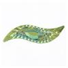 Resin Sew-on Piikki Stones 10pcs 14x47mm Silouhette Lime Aurora Borealis